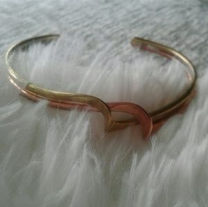 Vintage copper brass free style cuff